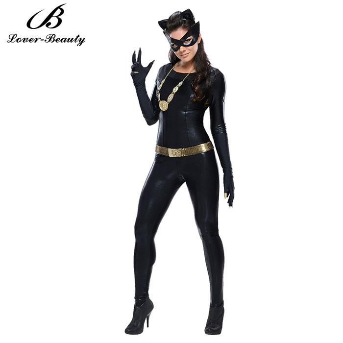 New Halloween Skeleton Full Body Jumpsuit Catsuit Costume For Women