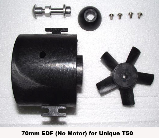 70mm EDF Part for Unique T50 RC Jet Hobby(Hong Kong)