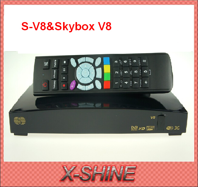 2pcs S-V8 Satellite Receiver V8 support 2xUSB WEB TV Wifi Cccamd Newcamd YouPorn Biss Key Weather Forecast skybox v8 free ship(China (Mainland))