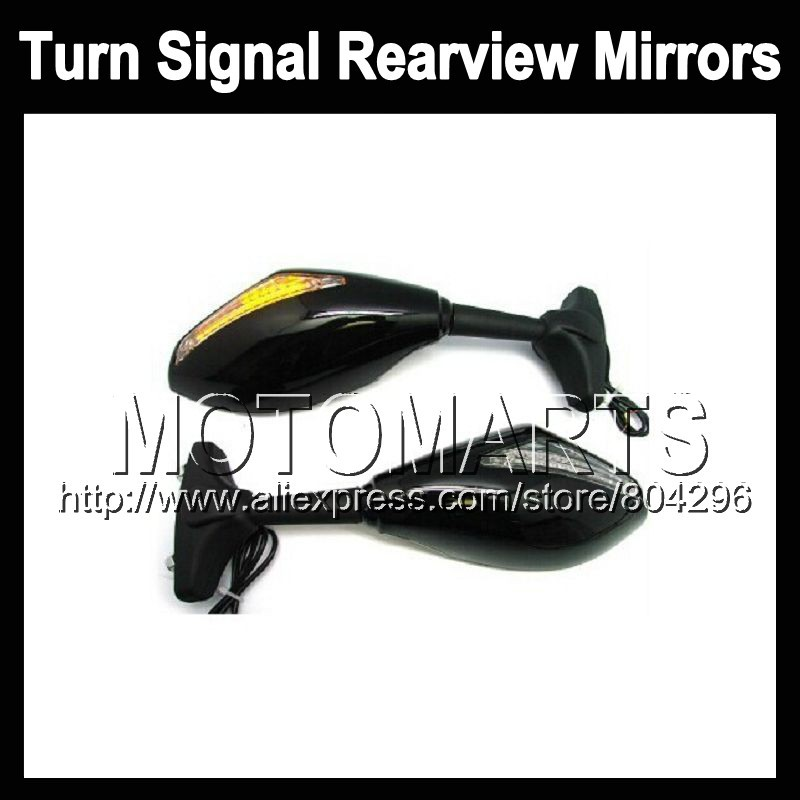2X Black Turn Signal Mirrors DUCATI 848 1098 1198 07-11 848S 1098S 1198S 848R 2007 2008 2009 2010 2011 Rearview Side Mirror - Motomarts store