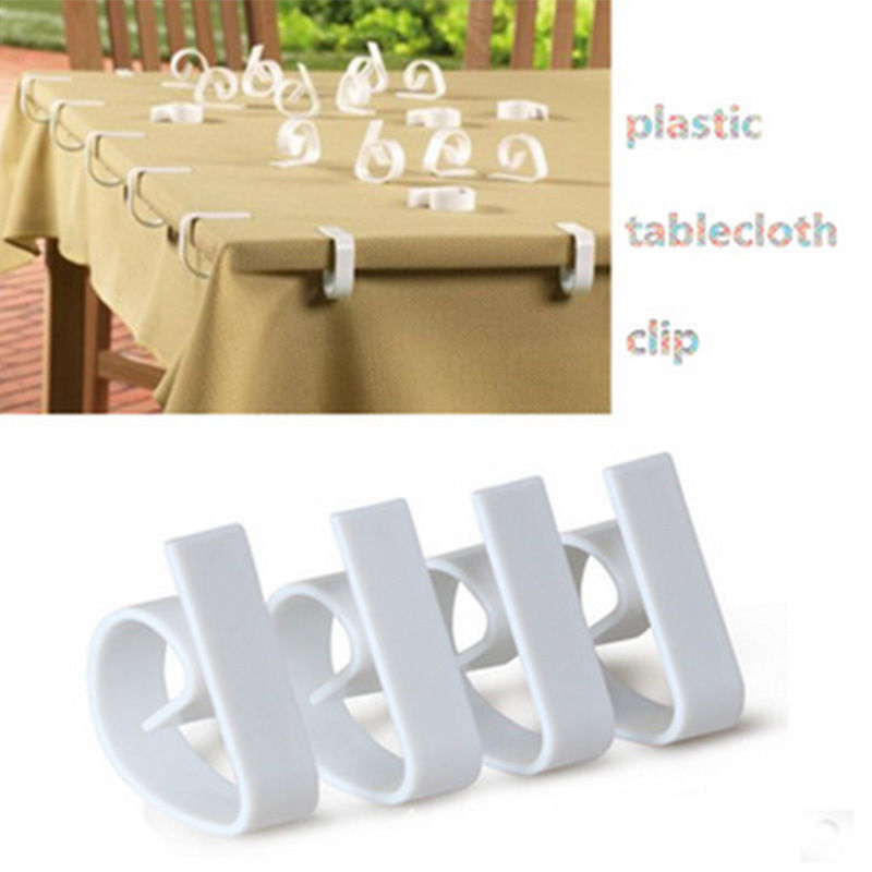 Plastic Table Cloth Table Cover Clips Desk Skirt Holder Clamp Wedding Party Hot