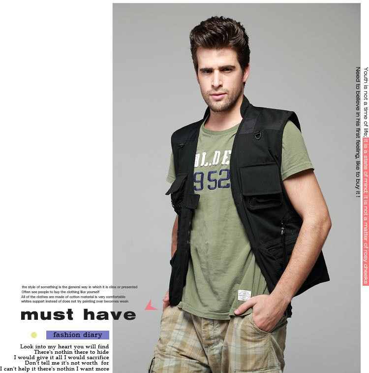 Summer Outdoor Vests Photography Camouflage Coats Men Fishing Vest Multifunctional Quick-Drying Fly Fishing Vest Jacket