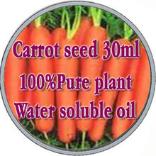 Free shopping 100% pure plant water soluble essential oils of carrot seed oil 30ml Aromatherapy bath dedicated