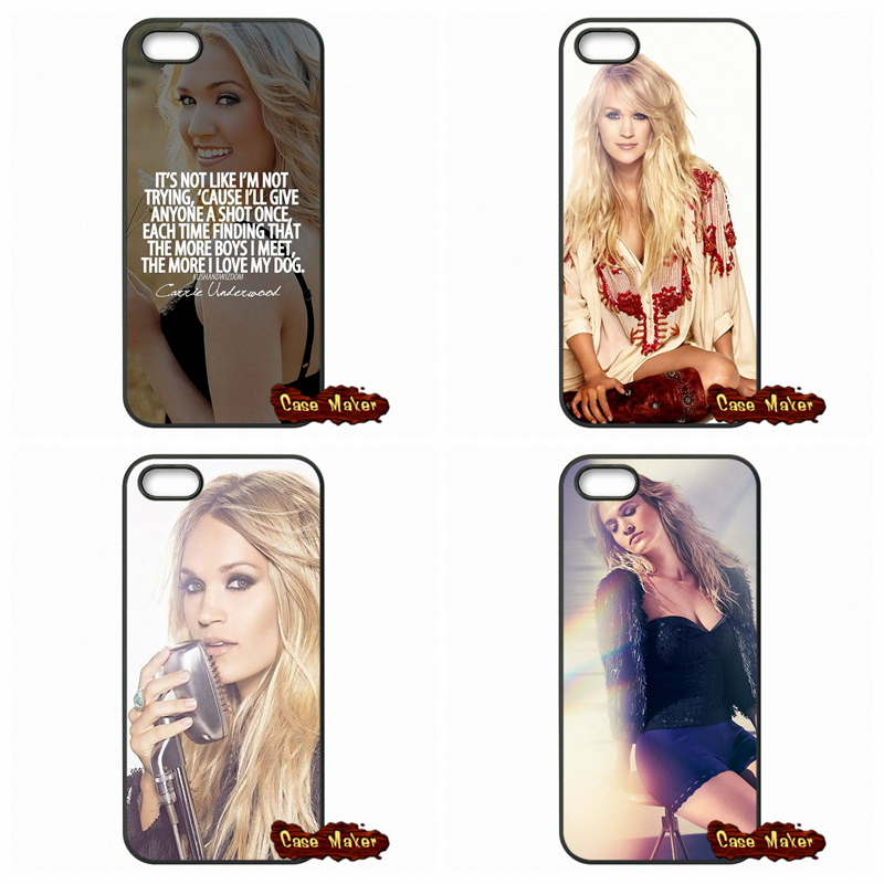 For Apple iPod Touch 4 5 6 iPhone 4 4S 5 5C SE 6 6S Plus 4.7 5.5 USA Carrie Underwood Phone Case Cover(China (Mainland))