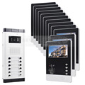 DIYSECUR 12 x 4 3inch Monitors 4 Wired Apartment Video Door Phone Audio Visual Intercom Entry