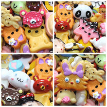10Pcs diy Lizun Slime Supplies accessories phone case decoration for slime filler Miniature Resin Cake Fruits Candy chocolate(China)