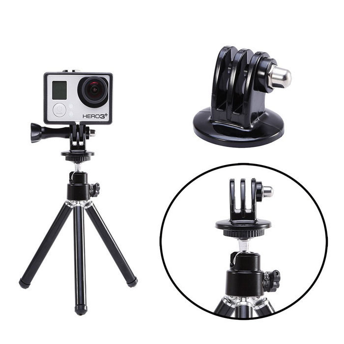 2015 New Hot Sale Durable GoPro Action Sport Camera Tripod Mount Holder Adapter for GoPro HD Hero 3+/3/2 Free Shipping Wholesale(China (Mainland))