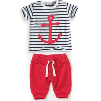 Stylish Infant Baby Boys Sets Striped T-shirt Tops+Red Pants 2pcs Outfits Toddlers Suits Clothes 0-3Y