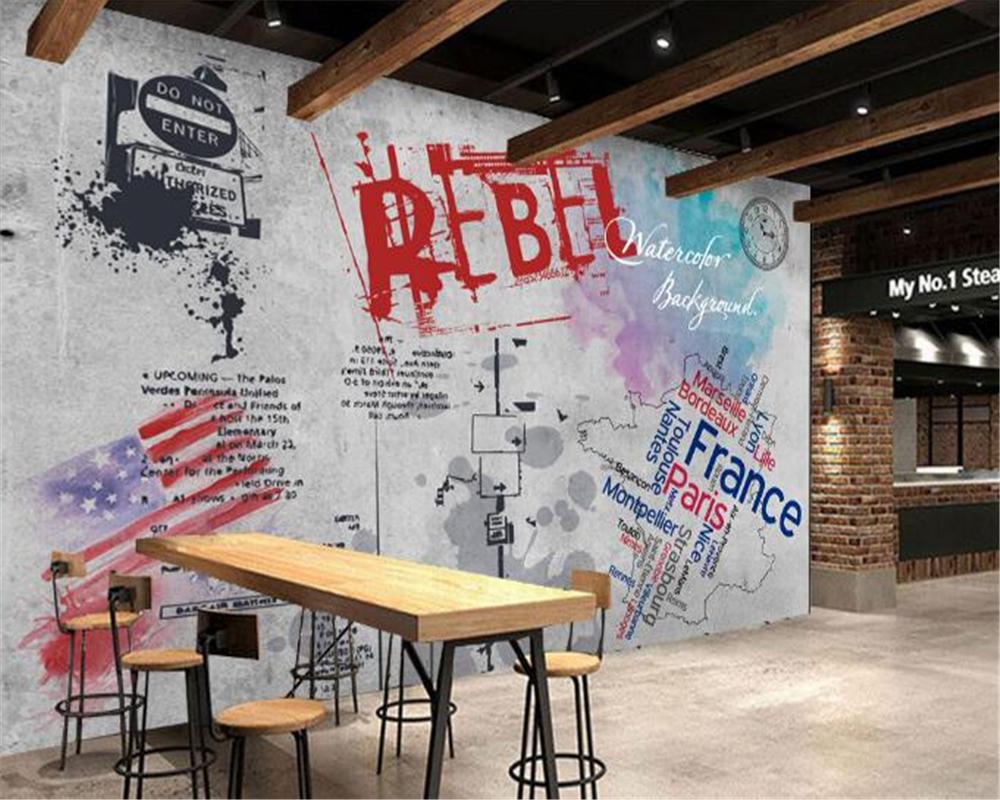 Alta qualità 3d murales carta da parati graffiti acquista a basso ...