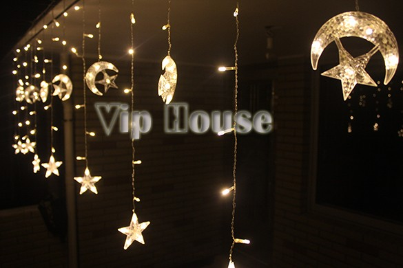 Fairy Light New Arrival Top Quality 4M LED Moon Star Christmas String Light Party Decoration Bar ...