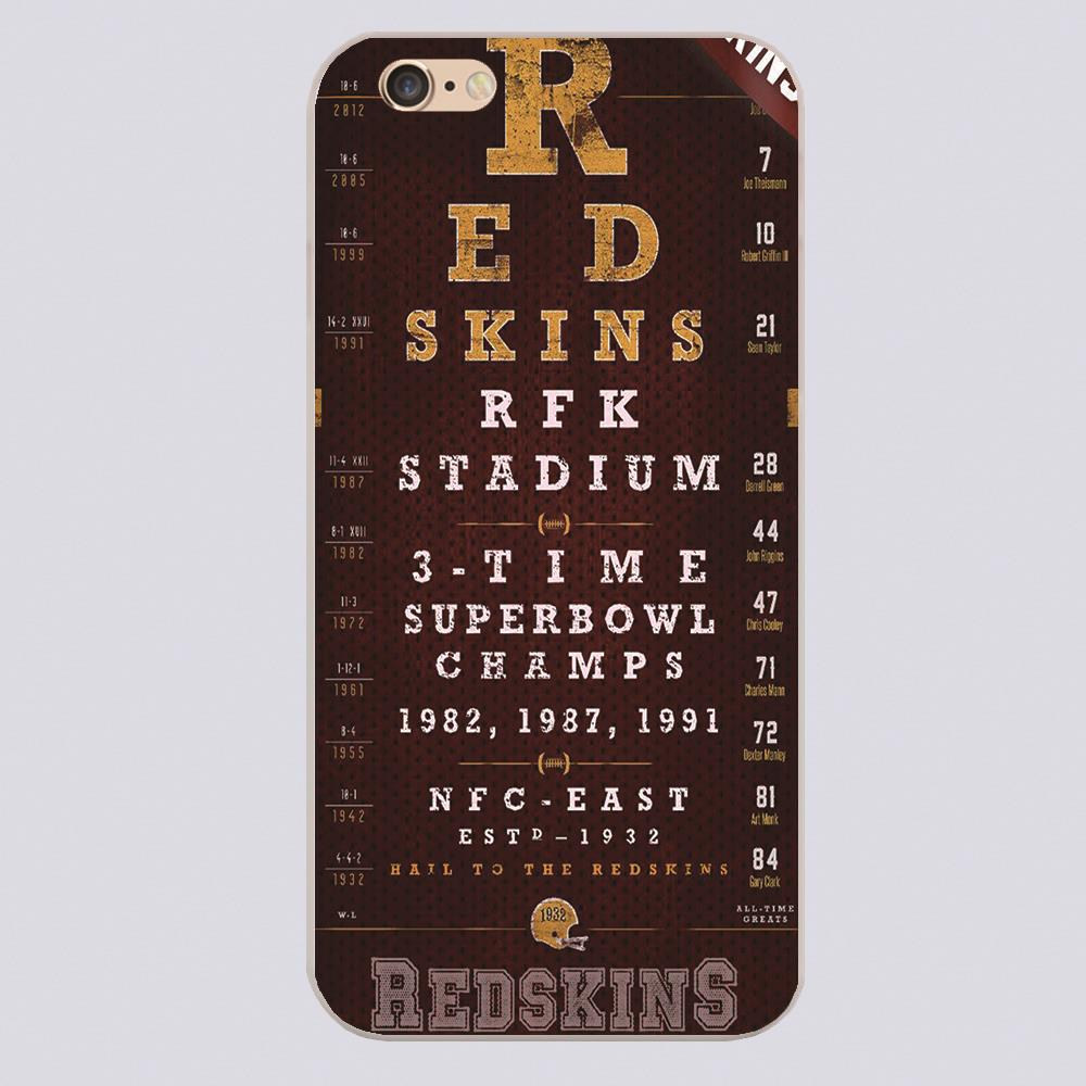 Washington Redskins Football Eye Chart Design case cover cell mobile phone cases for Apple iphone 4 4s 5 5c 5s 6 6s 6plus hard(China (Mainland))