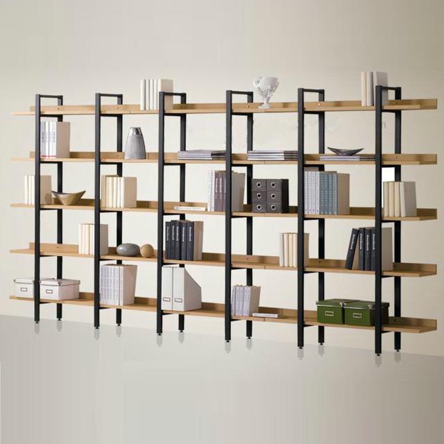 Moderne fer clins de bois tag re pr sentoir combinaison cinq tag re bibliot - Bibliotheque fer et bois ...