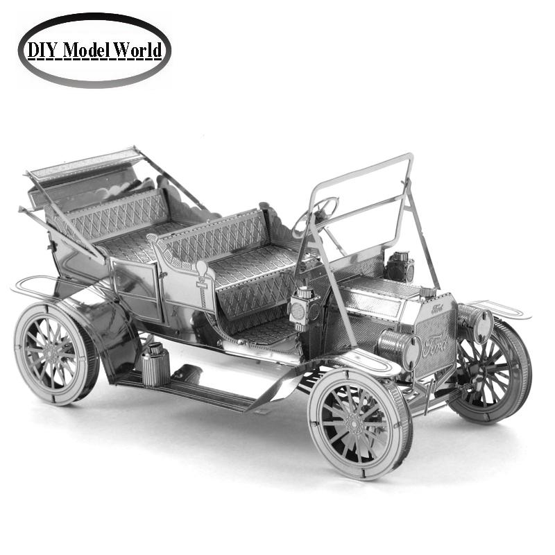 FORD TIN LIZZY model kit laser cutting 3D puzzle DIY metal car model jigsaw free shipping best gift for kids educational toys(China (Mainland))
