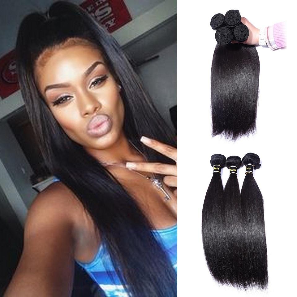 Hot Sale Beauty Peruvian Virgin Hair Straight 4 Bundle Deals,FYB Hair Products Peruvian Straight Hair Puruvian Hair Bundles gaga(China (Mainland))