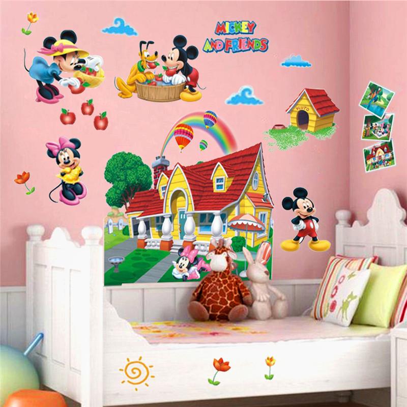 Pvc sticker minnie mouse promotion achetez des pvc sticker minnie mouse promotionnels sur - Micky maus wandtattoo ...