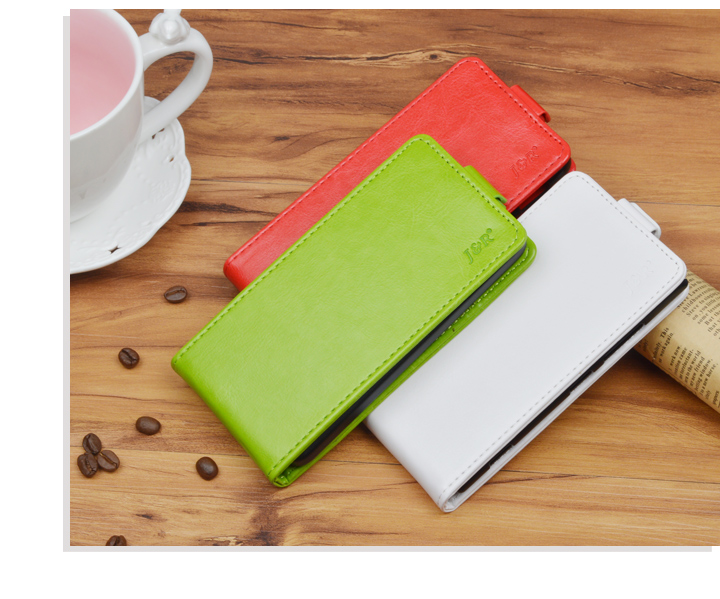 J&R Brand PU Leather Cover For  Microsoft Lumia 535 Flip Case For Nokia Lumia 535 Vertical Magnetic Phone Bag 9 Colors