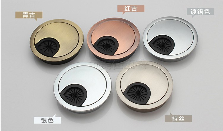 10pcs Dia.60mm Hardware Accessories Wire Hole Cover Office Furniture Computer Grommet Desk Table Cable Tidy Outlet Switch Plate(China (Mainland))
