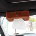 Car Sun visor Seat back tissue boxes Microfiber Leather Quartet Auto Stowing Tidying Automobiles Interior Accessories