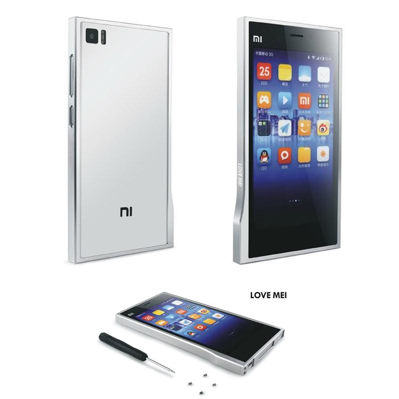 Mi3 Luxury Ultra-Thin LOVE MEI Brand Aluminum Metal Bumper For Xiaomi Mi3 Protector Case Fundas Phone Accessories Cheap Sale(China (Mainland))