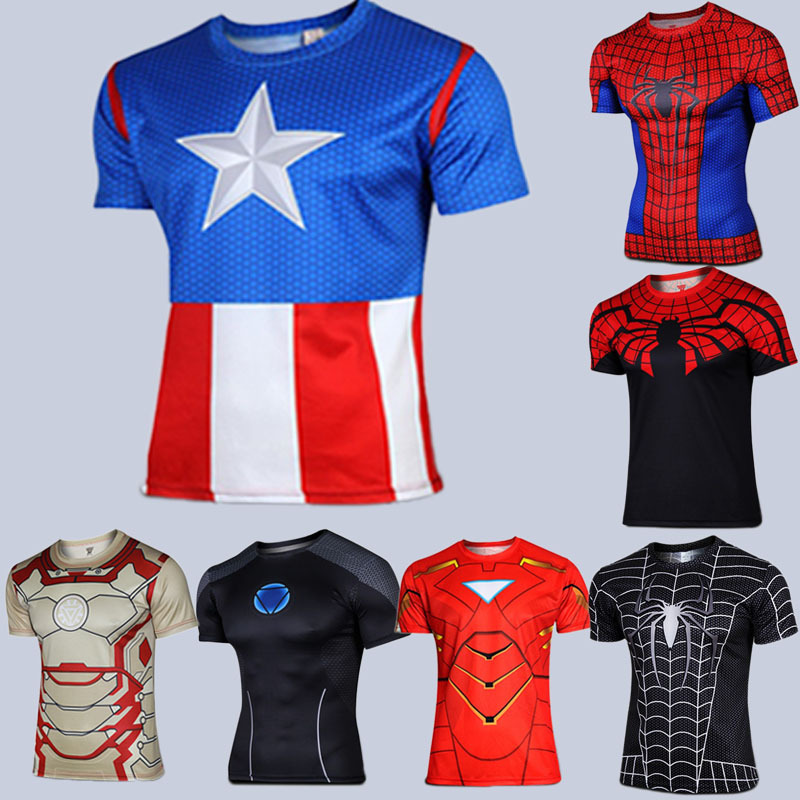Spiderman Venom Ironman Superman Captain America Winter soldier Marvel T shirt Avengers Costume DC Comics Superhero mens - Sell like hot cakes every day store