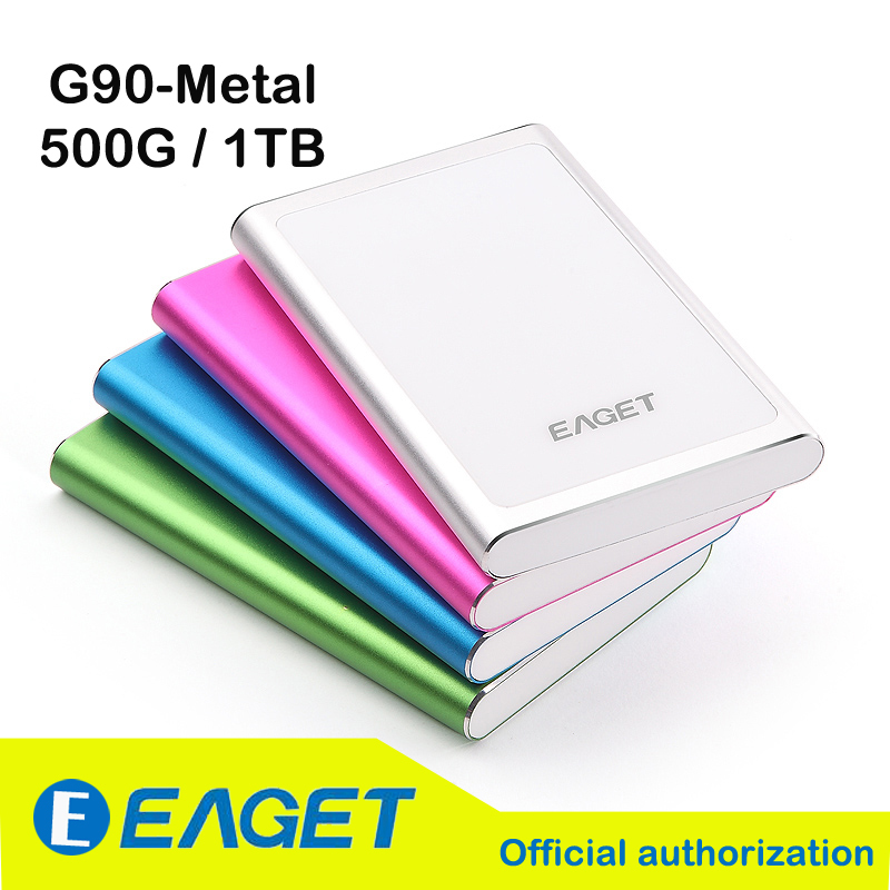Original EAGET G90 500G 1TB USB 3.0 High Speed Fashion Extreme-thin Metal Encryption External Hard Drives Disk Portable HDD(China (Mainland))