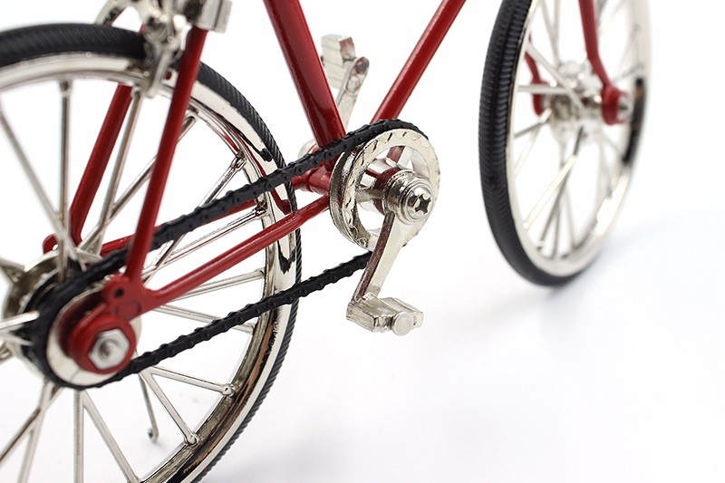 Vintage home decor 3D Miniature Bicycle Decoration Accessories Mini Racing Bike 3 Colors Metal Craft Creative Gift For Children