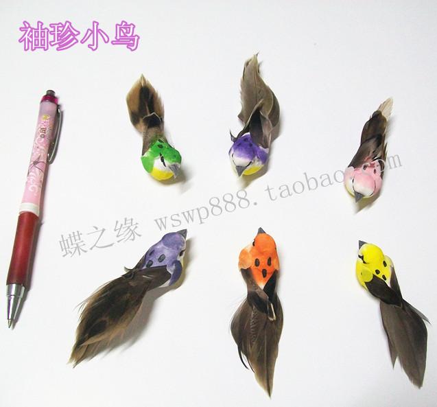 MINI-size artificial bird mini feather bird L 9CM 3PCS(China (Mainland))