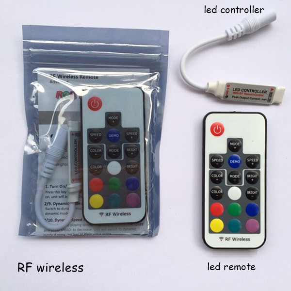1pcs dc12v 24v 3 channel 6a rf wireless mini rgb led remote controller to control led strip smd 3528 and 5050 lighting(China (Mainland))