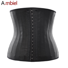 Ambiels 25 Steel Bone Latex Waist Trainer Corset Sexy Lingerie Waist Training Corsets and Bustiers Firm Control