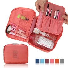 Unisex Waterproof nylon Cosmetic Make Up Toiletry Storage Bag Holder Beauty Wash Organizer Monopoly Pouch  Travel