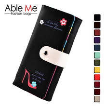 Womens Wallets And Purses With Flowers Floral And Heeled Shoes Pattern Elegant classic Hasp Credit Card