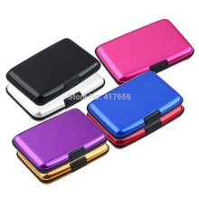 Waterproof Business ID Credit Card Holder Wallet Pocket Case Aluminum Metal Shiny Side Anti RFID scan