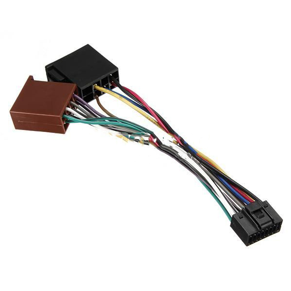 Bargaineer 16Pin ISO Car Stereo for Audio Wiring Harness Connector Cable for Kenwood(China (Mainland))