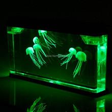 Big Size  Jellyfish Tank with 7 Jellyfish  Color-Changing LED Lights Aquarium(China (Mainland))