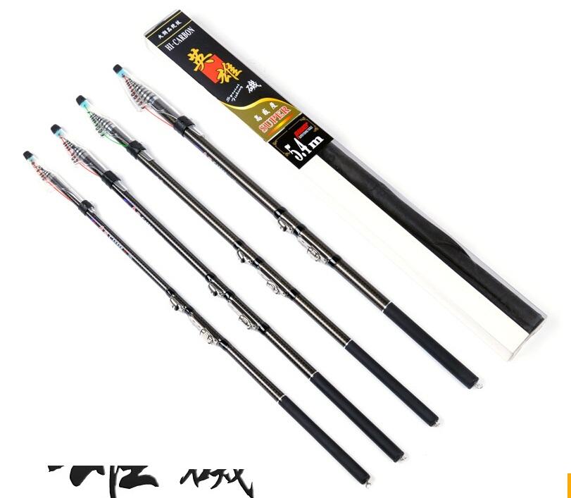 Telecopic high carbon fishing rod pole 2.7-5.4m cheap fishing tackle fishing rods carbon fiber for rock fishing