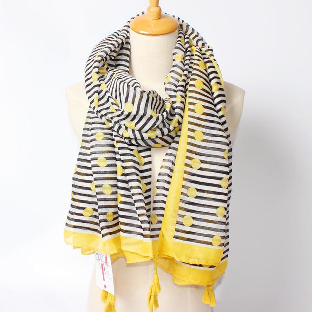 2016 новое поступление зима мода женщин бренд дизайн геометрия полосатый печатных 180 см шарфы кисти шали