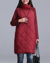 Buy 2016 Autumn Winter Women Loose Dresses Turtleneck Long Sleeve A-Line Vestidos Red Gray Black Warm Autumn Loose Women Dress Tunic for $16.34 in AliExpress store