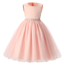 Children Dresses For Girls Kids Formal Wear Princess Little Bridesmaid Dress For Baby Girl 3 4 5 6 7 8 Year Birthday Party Dress(China (Mainland))