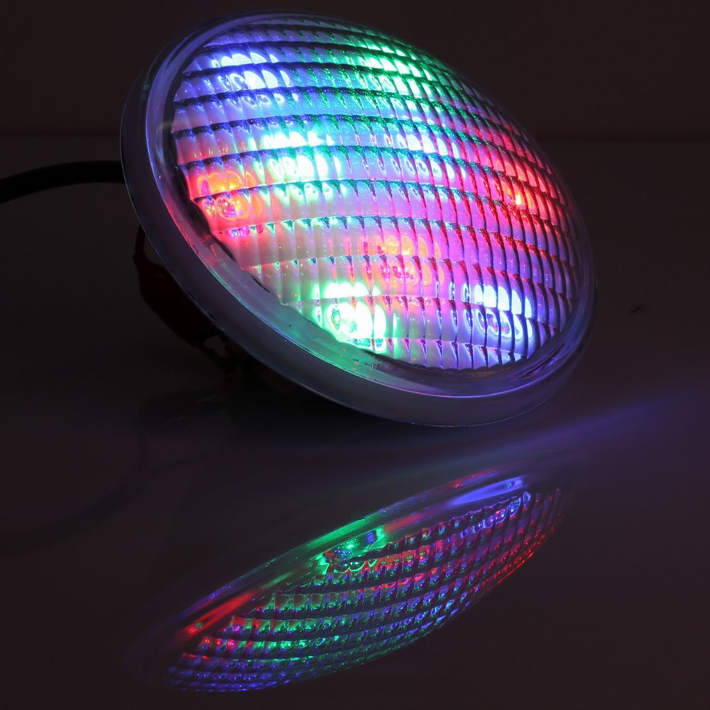 IP68 12V LED Swimming pool light underwater lights PAR56 54W(18*3W)RGB,Contains the remote control free shipping(China (Mainland))