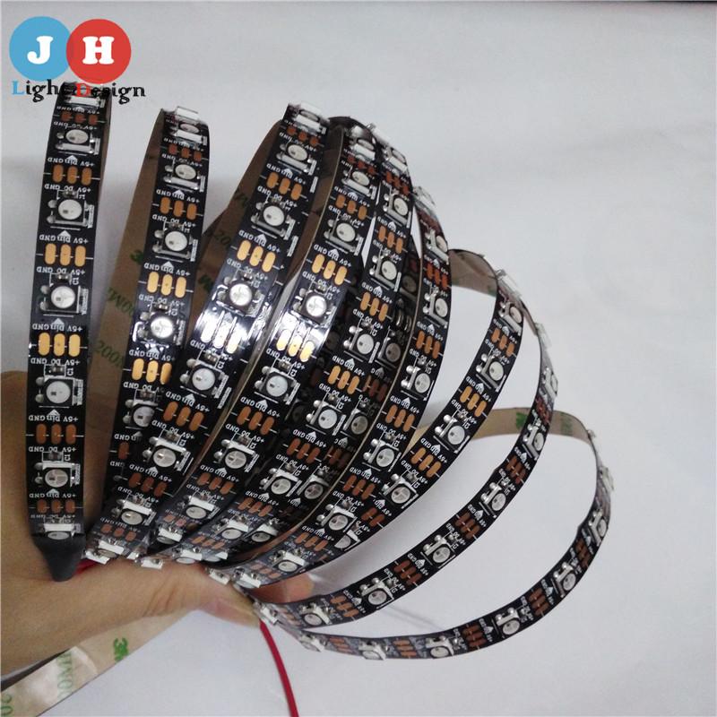 Wholesale 1M 60 Leds/Pixels/m WS2812B Non-Waterproof Individually Addressable Led Pixel Strip DC5V WS 2812 RGB Strip<br><br>Aliexpress