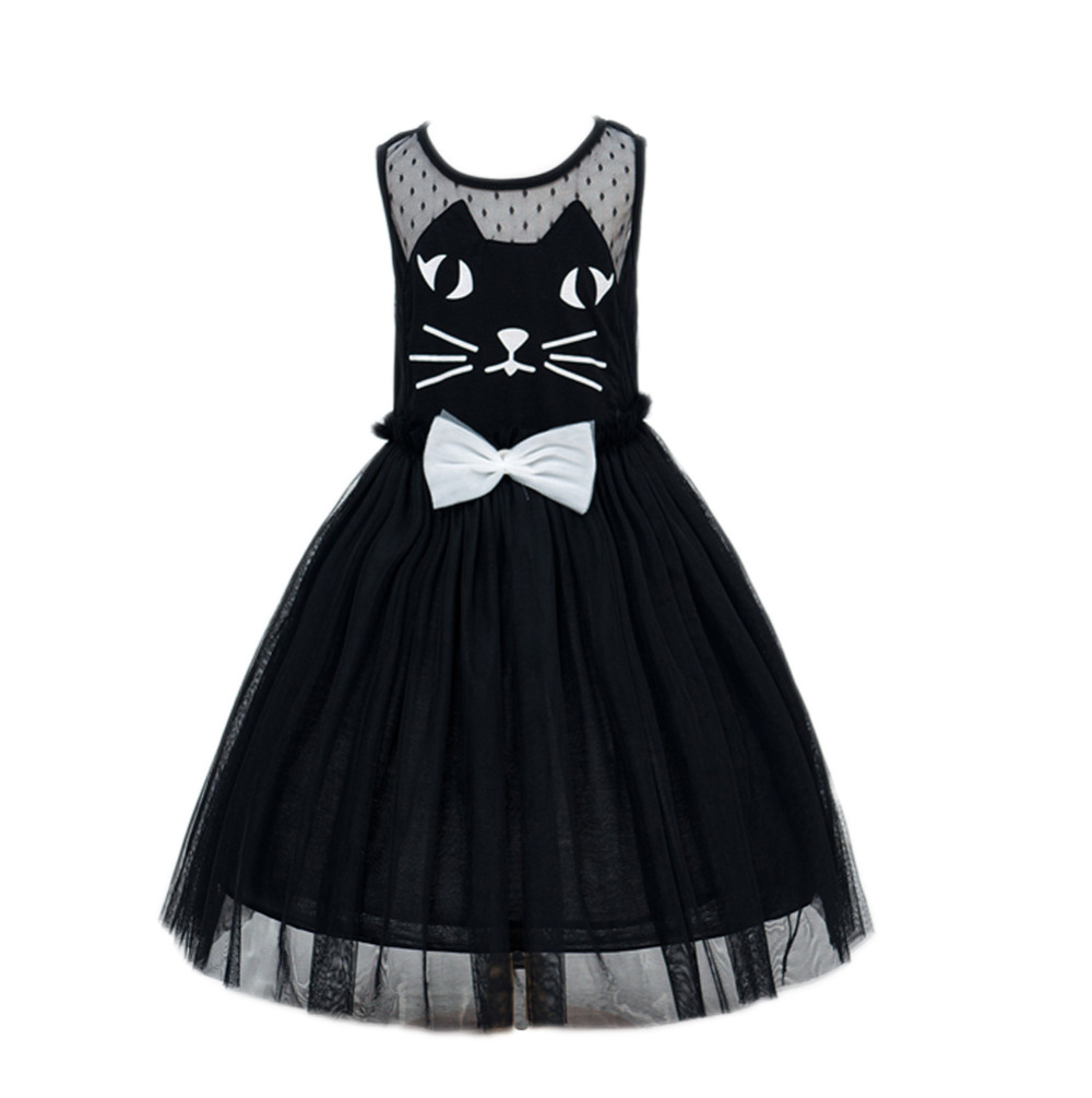 new Girl cute cat Princess Dress Baby Girl dress for party/wedding Dress,cotton dress Hello Kitty boys clothing free shipping(China (Mainland))