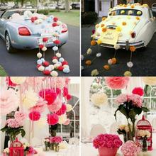 Promotion Wedding Decoration DIY 6''Bridal Baby Shower Birthday Garland Decorative Tissue Paper Pom Poms Flowers Balls(China (Mainland))