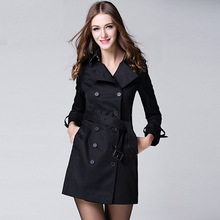 2017 New Spring Autumn fashion/Casual Burb Trench Coat Women Long Outerwear Loose Brand Clothes for lady good quality(China (Mainland))