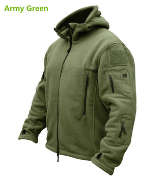 2016 Outdoor Sports Winter Military Fleece Warm Tactical Jacket Men Thermal Breathable Hooded men Jacket Coat Outerwear Army