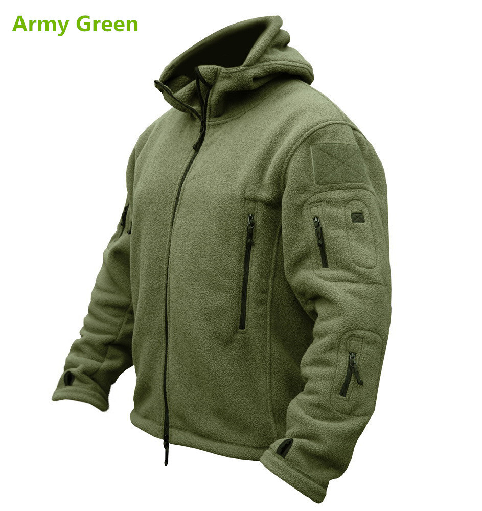 Outdoor Sports Military Fleece Warm Tactical Jacket Thermal Breathable Sport Hiking Polar Hooded Coat Outerwear Army Clothes(China (Mainland))