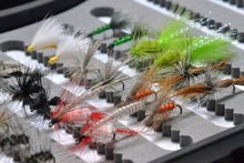 Top quality dry fly lures, 60pcs fly fishing lures, October Caddis/nymphes/Olive Woolly Buggers/CDC Fly Fishing Tackle(China (Mainland))