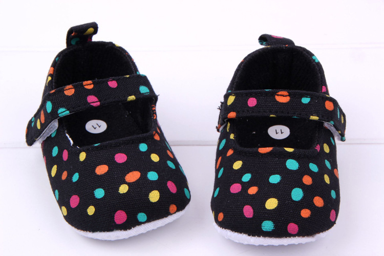 WX048 Cute Spring&Autumn Baby Shoes Sweet Dots Antiskid Toddlers Shoes Baby Girls First Walkers Free & Drop Shipping
