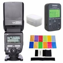Buy YONGNUO i-TTL Speedlite YN685 (YN-568EX Upgraded Version) Flash Nikon DSLR + YN622N-TX + EACHSHOT Filter + Diffuser for $145.99 in AliExpress store