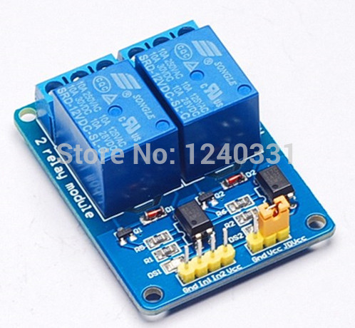 12V 2channel relay module 2 channel relay control board with optocoupler. Relay Output 2way relay module for arduino(China (Mainland))