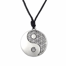 Buy Lemegeton Yin Yang Pendant Taoist Symbol Balance Jewelry Adjustable Rope Chain Necklaces Man Woman geomancy for $4.98 in AliExpress store